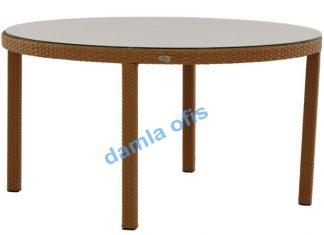 Yuvarlak rattan bahçe masaları, rattan bahçe masası, bahçe masası modelleri.