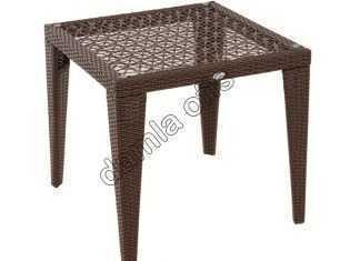 Kare rattan bahçe masaları, kare bahçe masası, rattan bahçe masası.