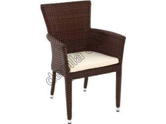 Minderli bahçe sandalyesi, minderli rattan sandalye, rattan sandalyeler.